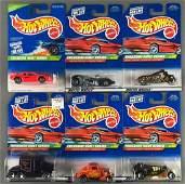 Group of 6 Hot Wheels Treasure Hunt die-cast vehicles