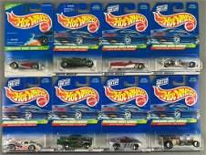 Group of 8 Hot Wheels Treasure Hunt die-cast vehicles