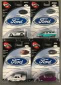 Group of 4 100% Hot Wheels Ford Series die-cast