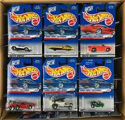 Full shipping box of Hot Wheels die-cast vehicles