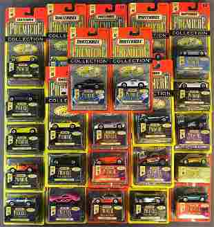 Group of 50+ Matchbox Premiere Collection die-cast