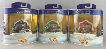 Group of 3 Hot Wheels Holiday die-cast vehicles