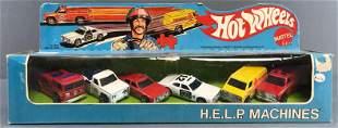 Hot Wheels H.E.L.P. Machines die-cast vehicle set