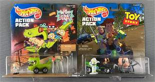 Group of 2 Hot Wheels Action Pack sets
