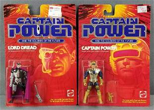 2 Captain Power action figures