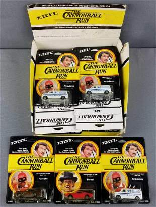 Group of 17 Cannonball Run die cast vehicles