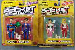 Group of 10 DC Comics Pocket Super Heroes figures