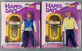 2 Mego Happy Days action figures