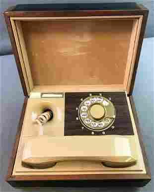 Vintage Rotary Dial Hideaway Phone