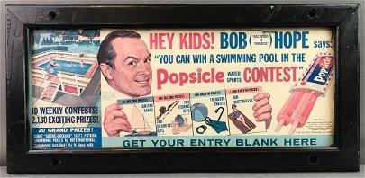 Vintage Bob Hope Popsicle Poster Framed