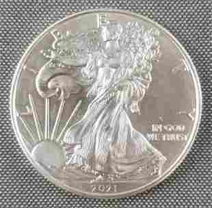2021 American Eagle Walking Liberty silver dollar coin