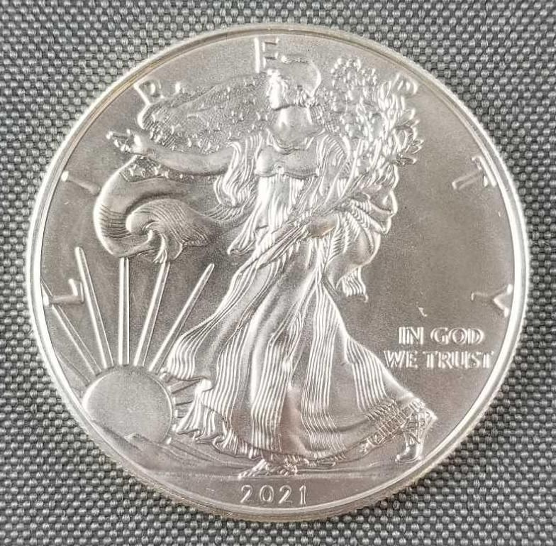 2021 American Eagle Walking Liberty silver dollar coin