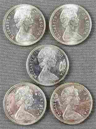 (5) Canadian goose dollar coins