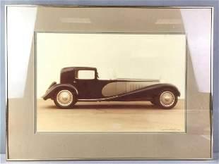 Framed Photo of a 1931 Bugatti Royale