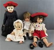 Group of 4 vintage dolls