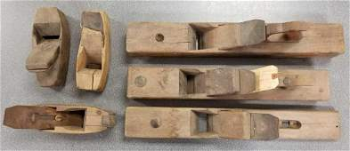 Group of 6 antique wood planes
