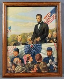 Framed Abraham Lincoln lithograph