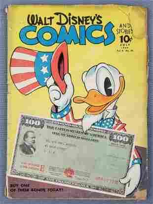 Walt Disney Comics war bond cover