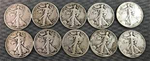 Group of American Silver Eagle Dollar Coins