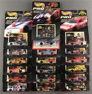 Group of 19 1997 Team Hot Wheels Pro Racing die-cast
