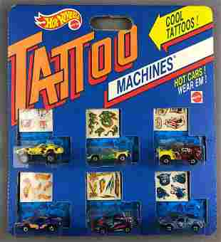 Hot Wheels tattoo machines set of die cast cars and
