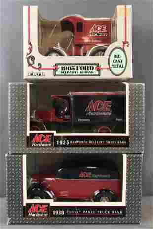Group of 3 Ertl Ace Hardware die-cast Metal vehicle