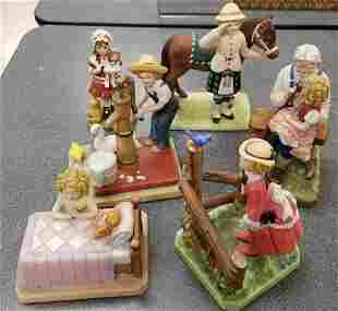 Group of Shirley Temple figurines