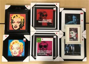 12 piece group Pop Art Celebrity Portrait Prints