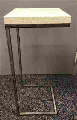 Metal frame side table