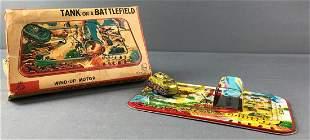 Tank on A Battlefield Wind Up Toy