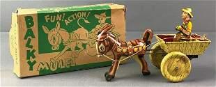 Marx Toys Balky Mule Wind Up Tin Litho Toy
