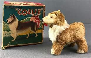 Walking Collie Wind Up Toy