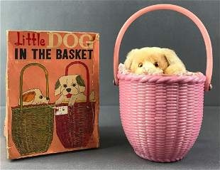 Little Dog in the Basket Mechanical Toy