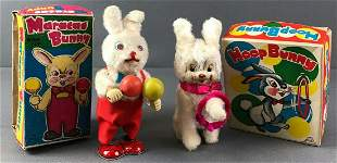 2 Wind Up Bunny Toys