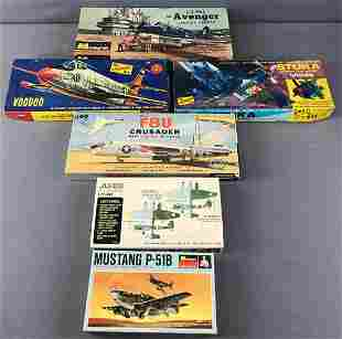 Group of 6 Model Airplane Kits