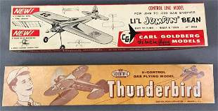2 Wooden Model Airplane Kits