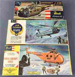 Group of 3 Model Airplane Kits