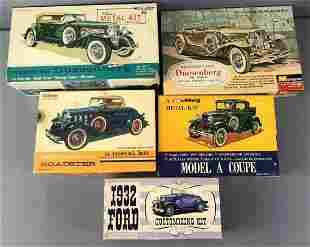 Group of 5 Model Car Kits