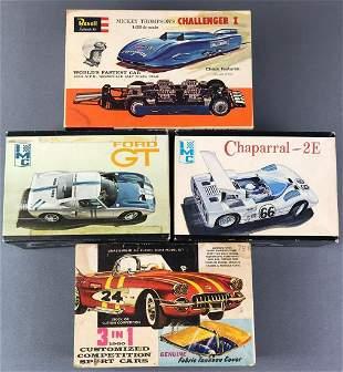 Group of 4 Model Car Kits