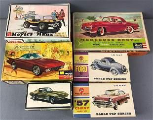Group of 6 Model Car Kits