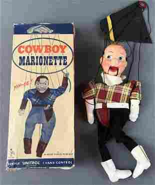 Peter Puppet Cowboy Marionette Puppet
