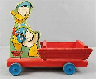 Donald Duck wood pull toy
