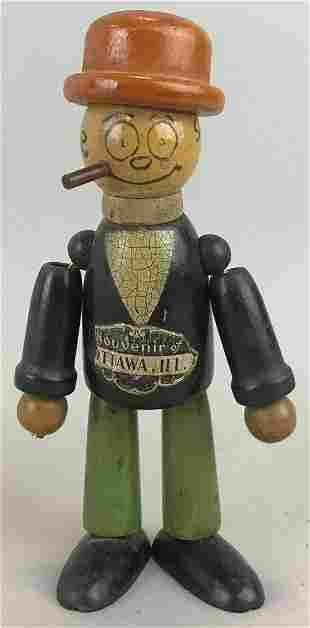 Ottawa, Illinois Souvenir Wood Doll