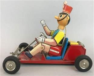 LineMar Toys/Walt Disney Toy Soldier Go Kart Tin toy