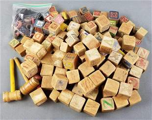 Group of wooden blocks and more