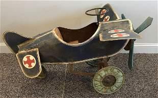 Vintage Plane Pedal Car