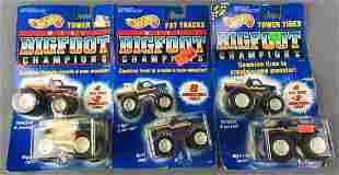 3 Mattel Mini Bigfoot Champions Cars