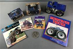 Group of 8 Monster Truck Toys and More