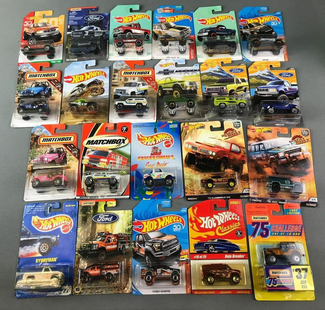 Group of Matchbox and Hot Wheels Vehicles