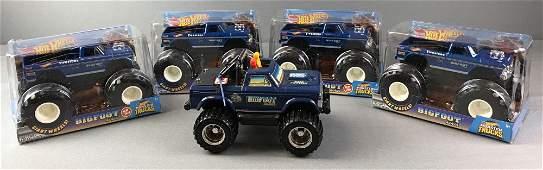 Group of 5 Bigfoot Monster Trucks